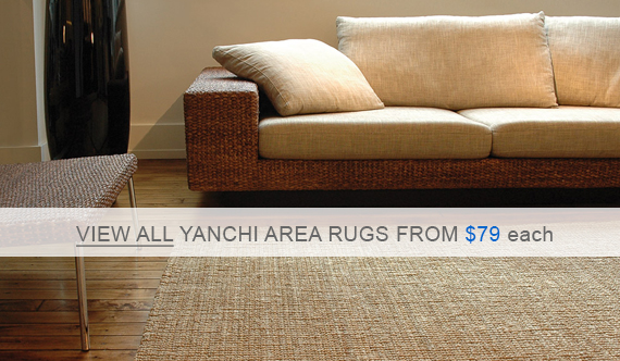 Yanchi Jute Area Rugs - Natural Boucle Weave