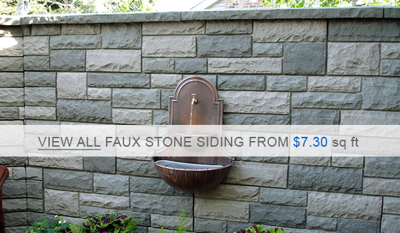 Faux Stone Siding Panels