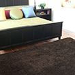 Yanchi Bamboo Shag Area Rugs - Coffee Bean